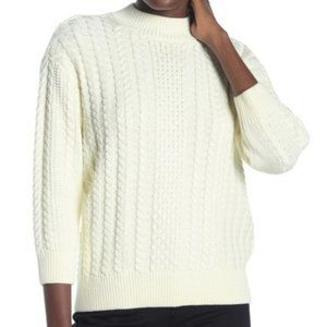 NEW - NYDJ Mock Neck  Cable Knit Sweater